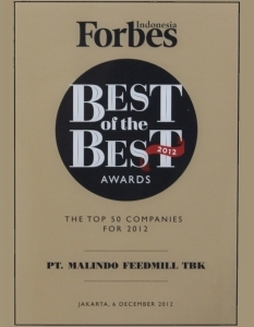 BEST OF THE BEST AWARD 2012