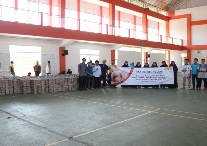 Malindo Distributed Two Millions of Eggs for Orphanage, School, and Boarding School