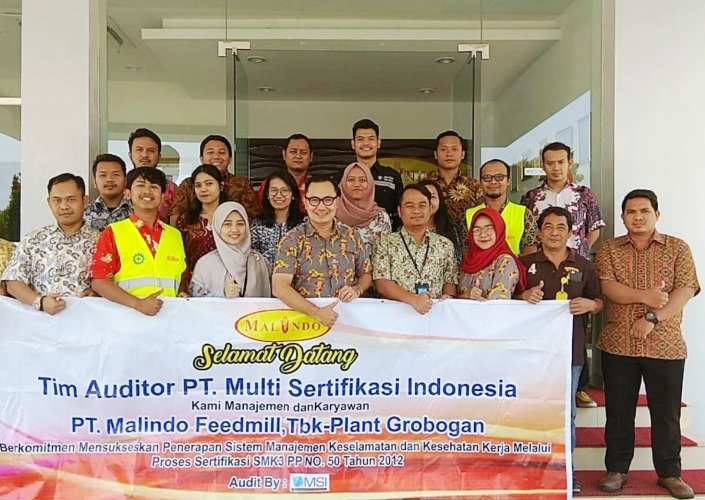 Grobogan Plant Passed the Occupational Safety and Health Management System audit.